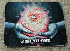 "MUNK ONE Sticker 1.75 X 2.25"" HEART from poster print Invisible Industries"