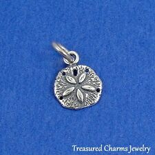 .925 Sterling Silver SAND DOLLAR CHARM Beach Ocean Nautical PENDANT *NEW*