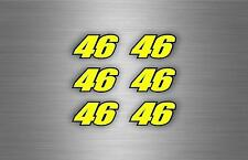 6x sticker number 46 biker motorcycle decals tuning car yellow blue moto GP