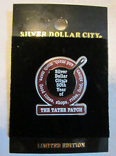 Silver Dollar City Official Trading Pin   Tatar Patch   50th Year