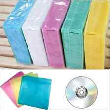 100Pcs CD DVD Double Sided Cover Storage Case PP Bag Sleeve Envelope Holder UR