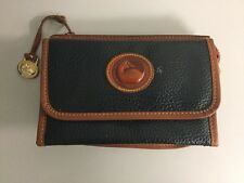 Vintage Dooney and Bourke Leather Black & Brown Bag /Clutch Purse Leather Flap