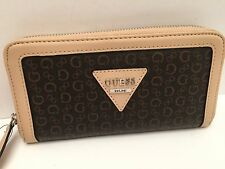 GUESS Woman's Wallet *Natural Brown w/G Logo *Polish SLG iPhone 6+ Clutch