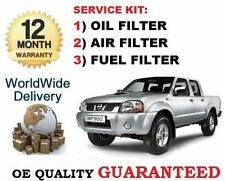 FOR NISSAN NP300  2.5DT 1/2008-> ON SERVICE KIT OIL AIR FUEL (3) FILTER SET