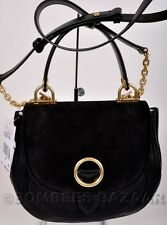 ❤️NWT AUTH MICHAEL KORS ISADORE MEDIUM TOP HANDLE LEATHER SUEDE MESSENGER BLACK❤