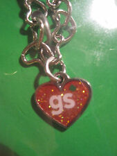 NEW Girl Scout CHARM BRACELET heart charm jewelry Thank you birthday GIFT multi