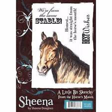 Sheena Douglass A Little Bit Sketchy FROM THE HORSES MOUTH A6 Rubber Stamp Set