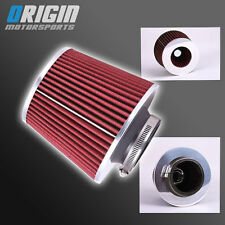 "3"" Universal High Performance DRY Air Intake Turbo Filter Clean Washable - RED"