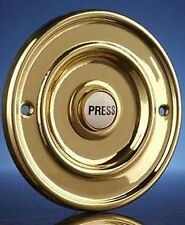 "Wired Door Bell Flush Fitting Push Button, Brass 76 mm (3"")"