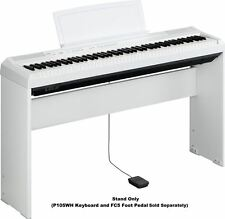 Yamaha L85WH White Wood Stand for P105-WH, P115B, P115WH Digital Piano/Keyboard