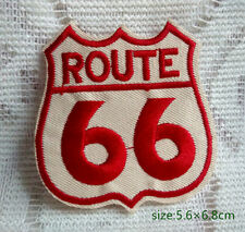US Route 66 Sign Embroidered Iron On Patch Clothes Jacket Bag Badge