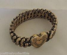 Antique Gold Sterling Base Pitman Keeler American Queen Sweetheart Bracelet