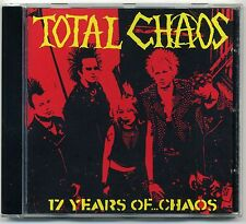 Total Chaos - 17 Years Of Chaos CD Casualties Exploited Abrasive Wheels Punk Oi!