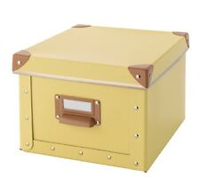 Ikea Fjalla Storage Box, Yellow, 22x27x16, BNWT