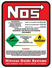 NEW NITROUS BOTTLE LABEL Sticker Decal 10#NOS REPLACEMENT 10 LB.