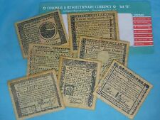 Colonial & Revolutionary Currency 1778 - 1781 Antiqued Reproduction