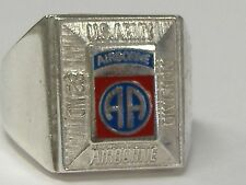 STERLING SILVER  AIRBORNE 82 ND DIVISION RING ,SIZE 9 , NEW OLD STOCK