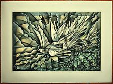 FLORIANO BODINI litografia COLOMBE 50x70 firmata numerata su 99 anno 1986