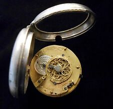 French Verge Fusee Auguste a Paris Pocket Watch from circa 1765