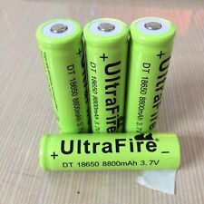 4x UltraFire 18650 8800mAh 3.7V Rechargeable Li-ion Battery for Flashlight torch