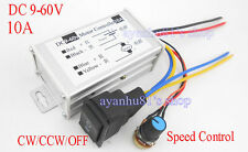 DC9-60V 10A PWM DC Motor Speed Control Controller CW CCW Reversible Pulse Driver
