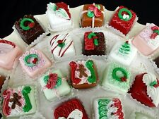 SET OF 12 DECORATED CHRISTMAS CANDIES