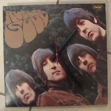THE BEATLES*RUBBER SOUL ALBUM CLOCK!**GREAT GIFT ITEM!!**FREE SHIPPING!--