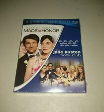 MADE OF HONOR / THE JANE AUSTEN BOOK CLUB Blu-ray Lot 2 Sealed NEW + Slipcover