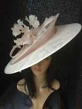 PETER BETTLEY PALE BABY PINK WEDDING HATINATOR HAT MOTHER OF THE BRIDE