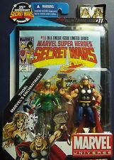 Marvel SUPER HEROES~SECRET WARS #11 ~THOR &ENCHANTRESS~COMIC PACK W/FIGURES