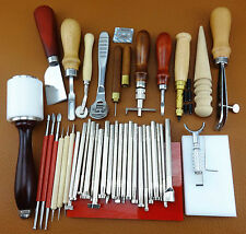 40 PCS LEATHER CRAFT SEWING STITCHING STAMPING PUNCH CARVING CUTTER TOOL SET KIT