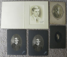 SET OF 10 PHOTOS PORTRAITS OF MEN FROM PITTSBURGH, GREENSBURG + SEWICKLEY, PA
