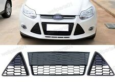 Honeycomb Front Bumper Lower Grille Inserts Kits For Ford Focus 2012-2014