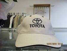 "TOYOTA-NATURAL CAP W/ ""TOYOTA"", LOGO  & EYELETS IN BLACK-METAL BUCKLE ADJ"