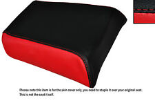 RED & BLACK CUSTOM FITS GILERA MX1 125 REAR LEATHER SEAT COVER ONLY