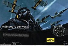 Publicité advertising 2014 (2 pages) La Montre Breitling Avenger Blackbird