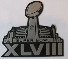 SEATTLE SEAHAWKS - DENVER SUPER BOWL XLVIII 48 JERSEY METALLIC PATCH SUPERBOWL