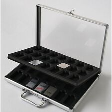 New Zippo Aluminium Display 42 pcs collection Cases 356×240×46mm From JAPAN