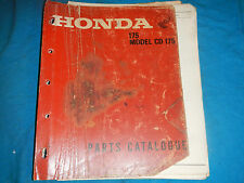 1968 68 1969 69 HONDA CD175 CD 175 CA175 CA 175 PARTS MANUAL BOOK CATALOG