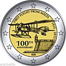 2 Euro Gedenkmünze/Sondermünze Malta 2015 100 Jahre erster Flug