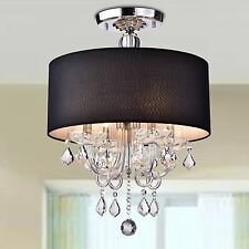 Semi-Flush Chandelier Ceiling Light Modern Crystal Lamp Fixture Lighting HG61