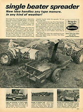1965 Print Ad of New Idea Single Beater Spreader Farm Tractor Loader