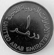 United Arab Emirates 1409-1989 One Dirham Nickle Coin. 28 years old