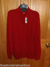 IZOD - MENS - SWEATER - JESTER RED - SIZE LARGE     (BBLK-10-25x3)