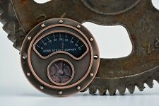 Steampunk Gauge Face - Copper - Steampunk Art Industrial Gauge - Steampunk Gears