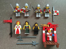 Lego Lot Castle Kingdoms RED LION KNIGHTS JESTER MINIFIGURES Helmets Weapons