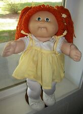CABBAGE PATCH KIDS 1985 GIRL IN VTG SUSPENDED DRESS, SHOES + NEW DIAPER TIGHTS