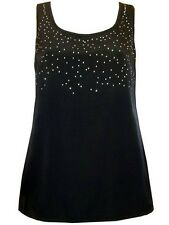 Marks and Spencers Size 16 Black Sparkly Longline Top Party Evening