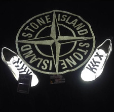 Rare Deadstock S/S 2008 Stone Island Reflective Silver Deck Shoes Osti Vintage