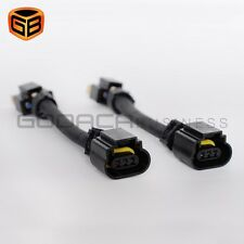 2x H4 9003 To H13 9008 Pigtail Headlight Conversion Harness for gm dodge ford